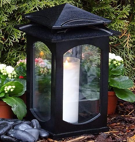 Grablaterne Mit Maria  Kerze Grablampe Lampe Grableuchte Grablicht Grabschmuck