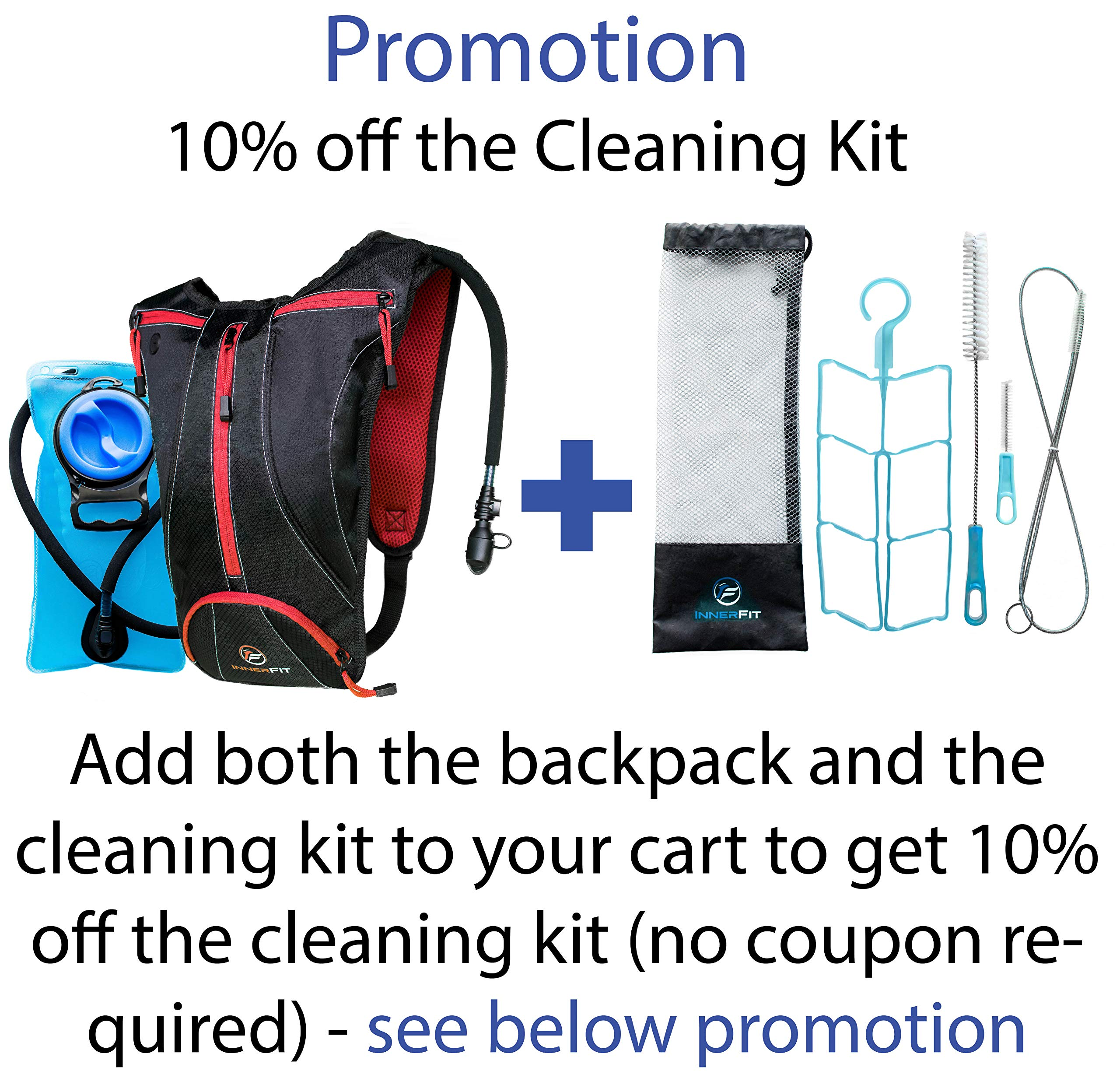 InnerFit Hydration Backpack and Water Bladder Cleaning Kit
