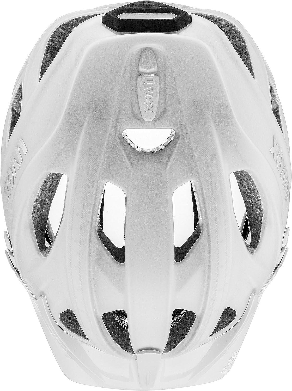 White mat 52-61 cm Uvex Fahrradhelm City Light Gr