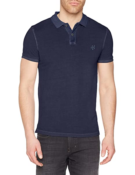 M22226653024, Polo para Hombre, Grau (Pirate Black 974), S Marc O'Polo