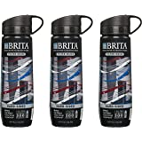 Brita Filtered Water Bottle Includes 1 Filter, Hard Sided, BPA Free, Americana Design (Pack of 3)