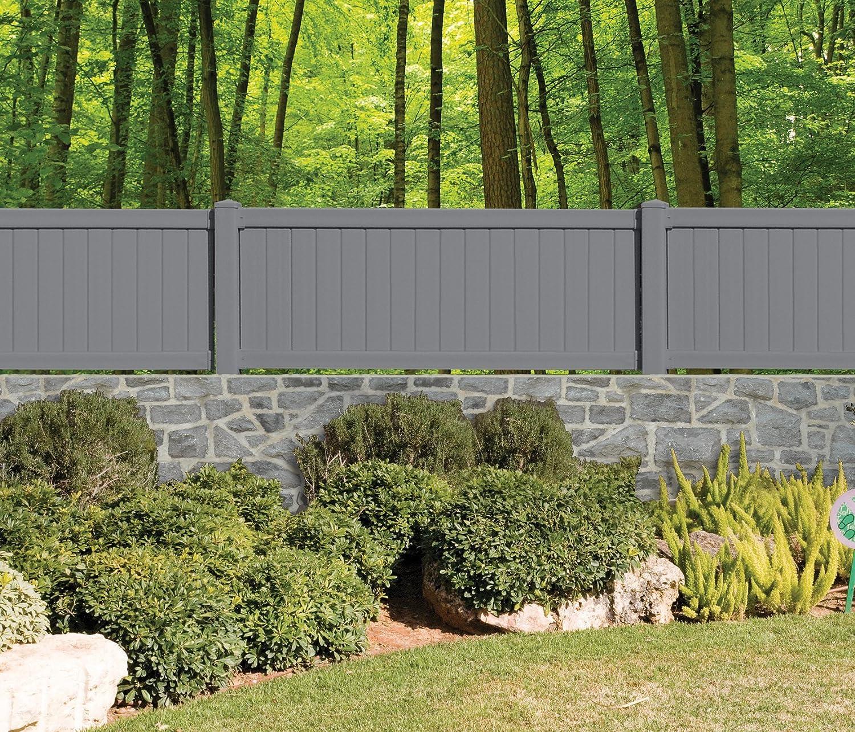 Chalet-Jardin 12 – 804159 Valla de jardín Resina con Kit de Panel Gris Antracita 168 x 3 x 90 cm: Amazon.es: Jardín