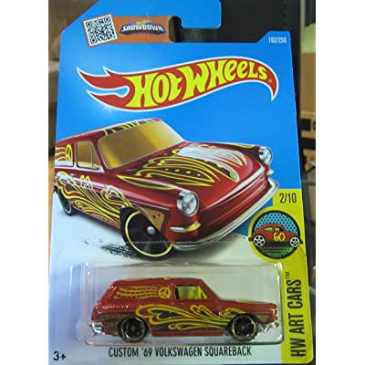 Hot Wheels, 2016 HW Art Cars, Custom '69 Volkswagen Squareback [Maroon] #192/250: Toys & Games