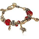 Leo Zodiac Sign Gold Tone Charm Bracelet