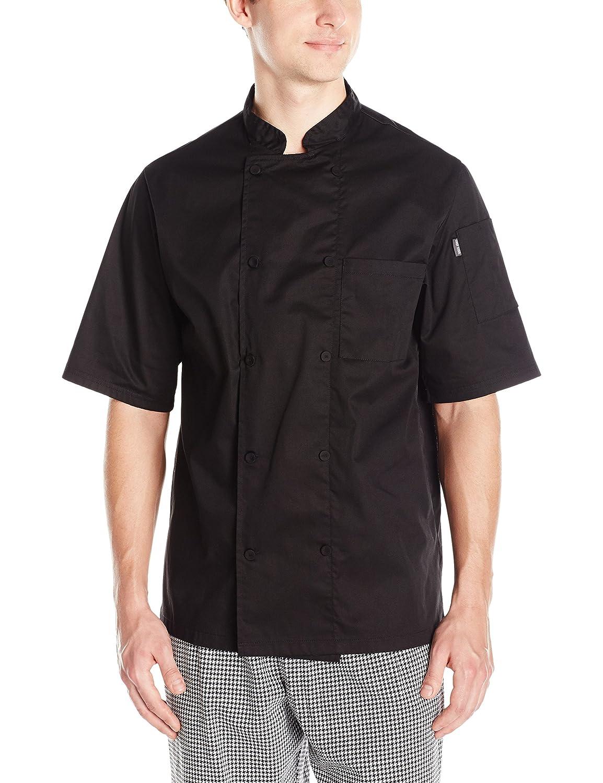 Chef Code Mens Short Sleeve Unisex Cool Breeze Chef Coats Chef Code Uniforms CC105