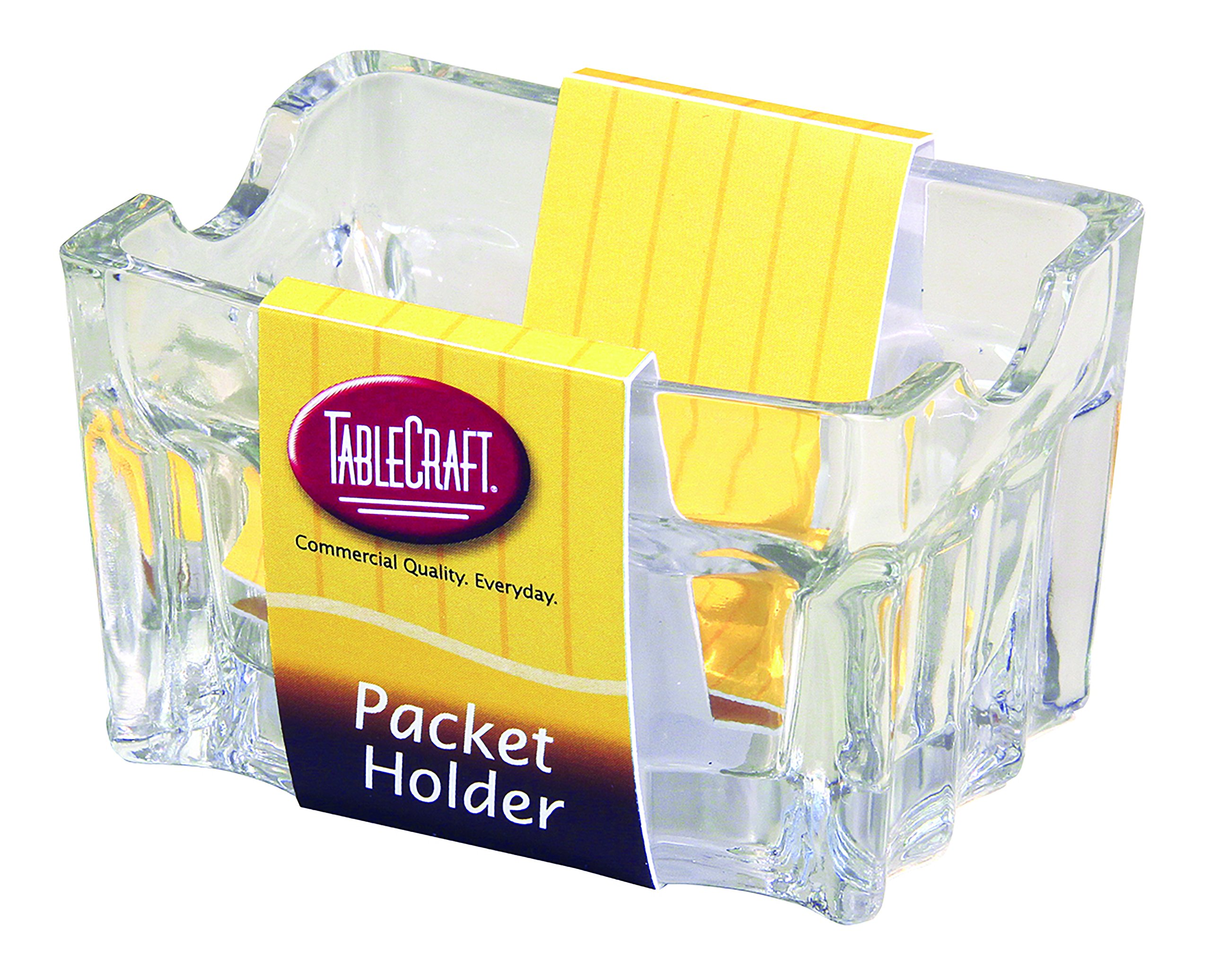 Tablecraft H121 Fluted Glass Sugar Packet Holder