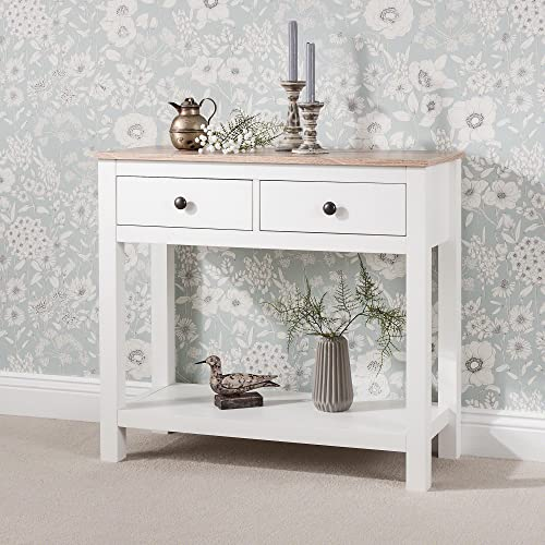 Laura James White Console Table | 2 Drawers | White