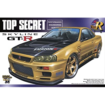 #86 Top Secret Fusion Skyline R34 GT-R '99 1/24 w/ Volk TE37 wheels