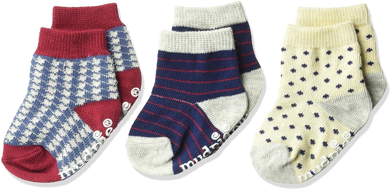Mud Pie Baby Boys\' Holiday Best 3 Pair Sock Set, Multi 0-12 MOS 1042002