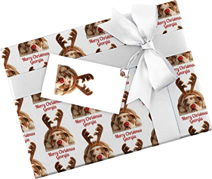 Personalised Christmas Wrapping Paper Gift Wrap 590mm 840mm Xmas Wrpl Amazon Co Uk Office Products