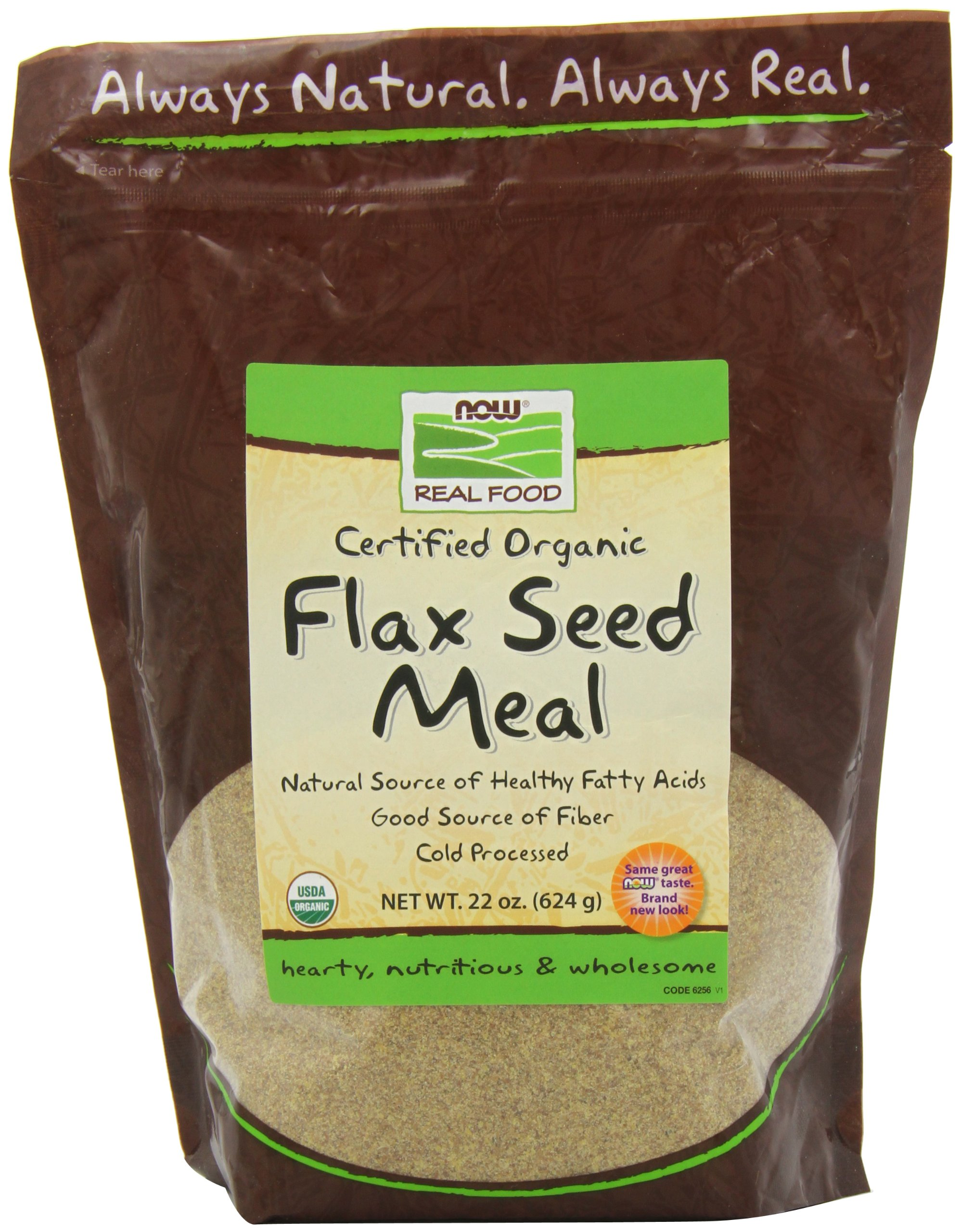 NOW Organic Flax Meal, 22-Ounce