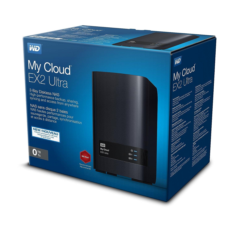 WD My Cloud EX2 Ultra - Unidad de Almacenamiento en Red sin Discos, Raid, Servidor Multimedia
