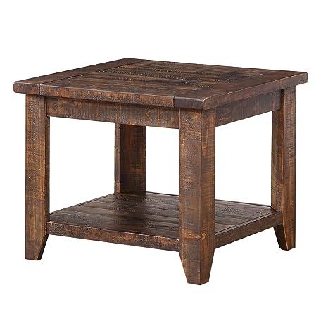 Modus Furniture Cally End Table, Antique Mocha
