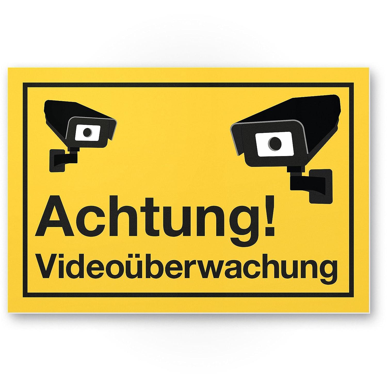 Advertencia Cartel de videovigilancia (Amarillo, 30 x 20 cm ...