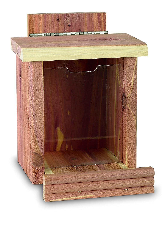 Pennington Cedar Squirrel Snacker Feeder Amish Made in the USA CENTRAL Garden & Pet 100509197