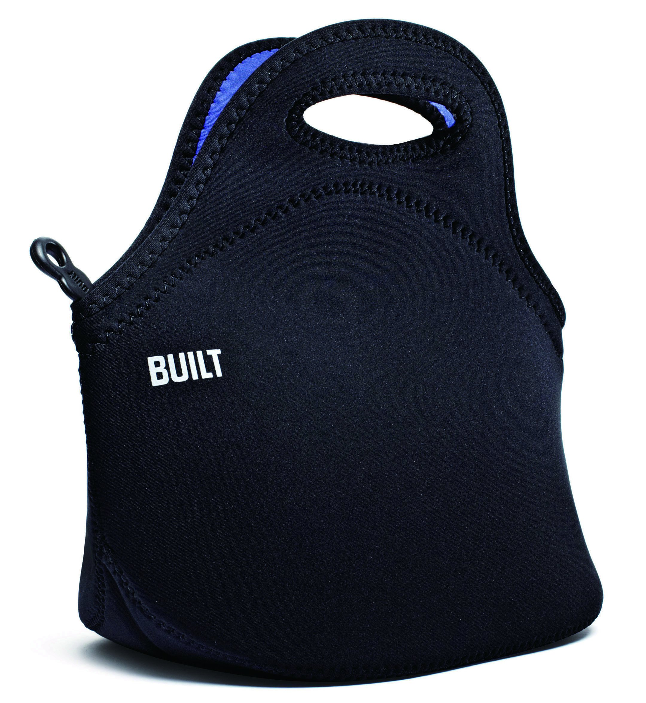 Built NY LB31-BLK Gourmet Getaway Lightweight Insulated Neoprene Lunch Tote Bag, Black by Built