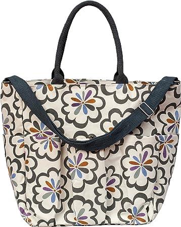Amazon Com Rockflowerpaper Canvas Weekender Bag Pom Pom Grey One