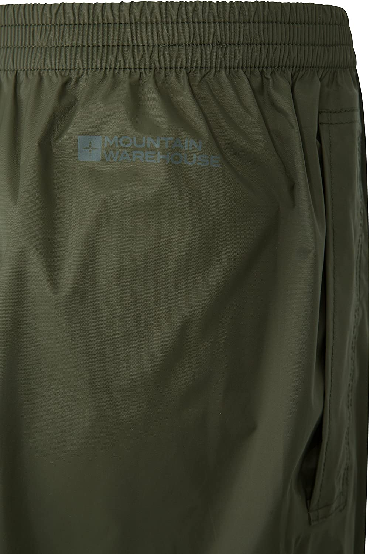 Schnelltrocknende Regenhose mit versiegelten N/ähten F/ür Reisen in Allen Jahreszeiten Mountain Warehouse Pakka Wasserfeste /Überhose f/ür Herren verstaubare Hose