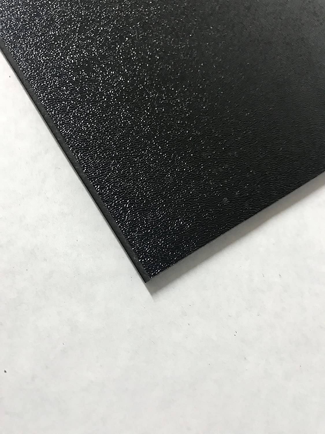 "ABS Black Plastic Sheet 1//4 x 12 x 12/"" Textured 1 Side Vacuum Forming Pack of 8"
