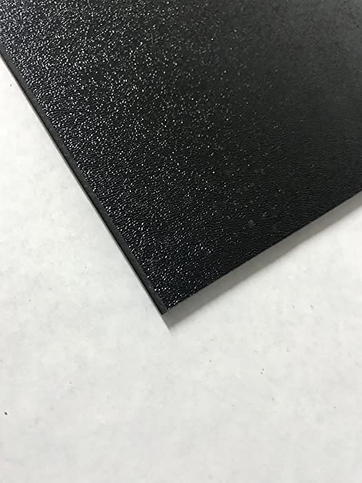 """ABS Black Plastic Sheet 1/4"""" x 12"""" x 12"""" Textured 1 Side Vacuum Forming"""