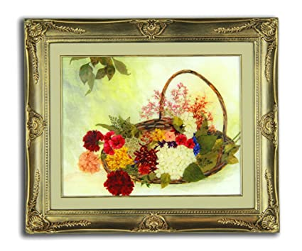 Amazon Pressed Flower Arrangements Basket Bouquet Framed
