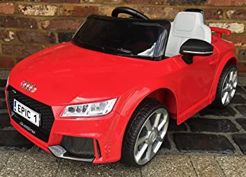 Kids Licensed Audi Tt Rs Sports Car With Remote Control 12v Electric