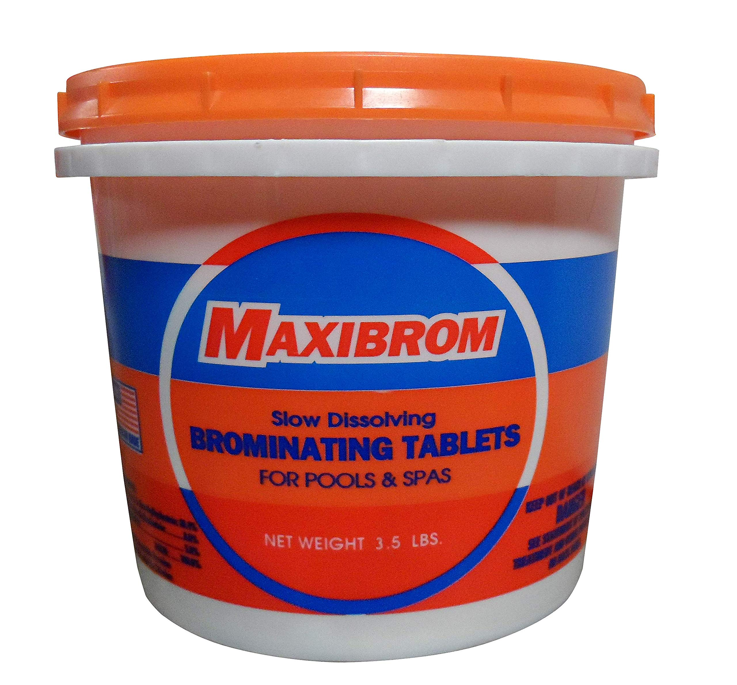 Maxibrom 3.5 LB Bucket Disinfectant Sanitizing Slow Dissolving Mini Bromine Tablets Hot Tubs & Spas - 5102 by Maxibrom