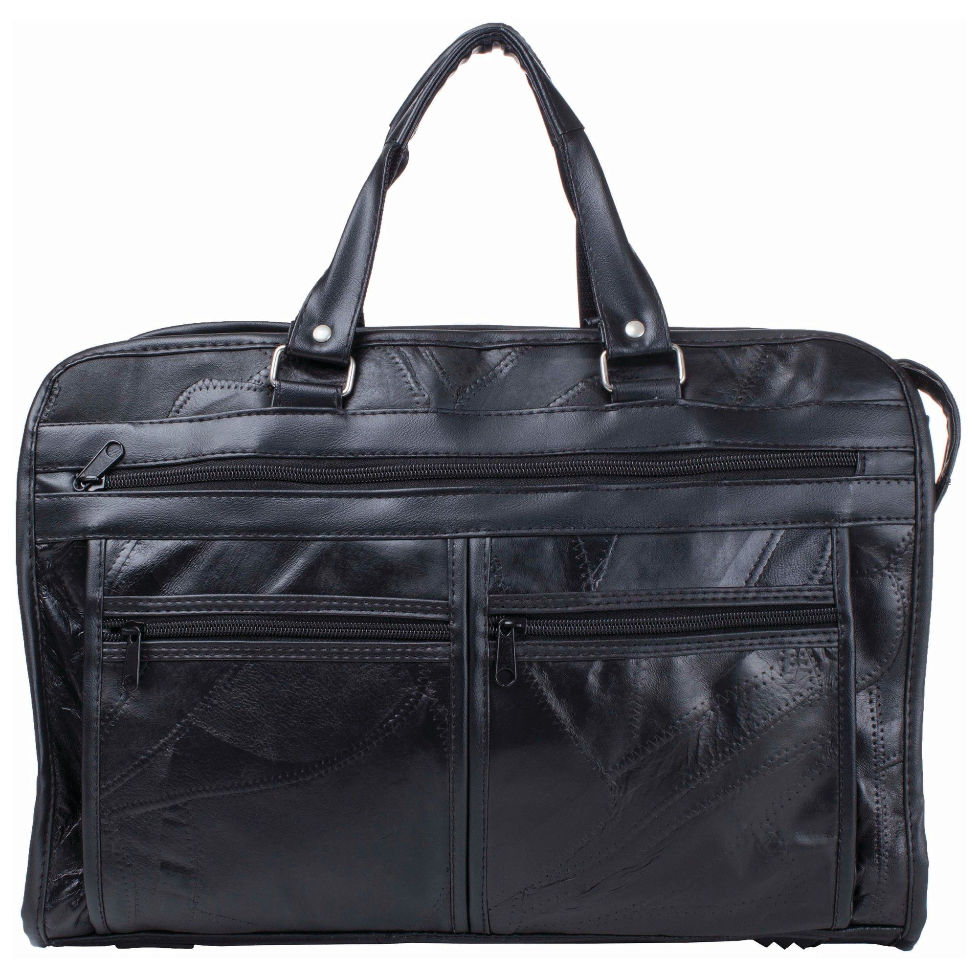 Maxam Bclbc Italian Mosaic Design Leather Briefcase