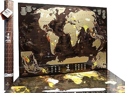 mymap mundo Scratch Off Mapa