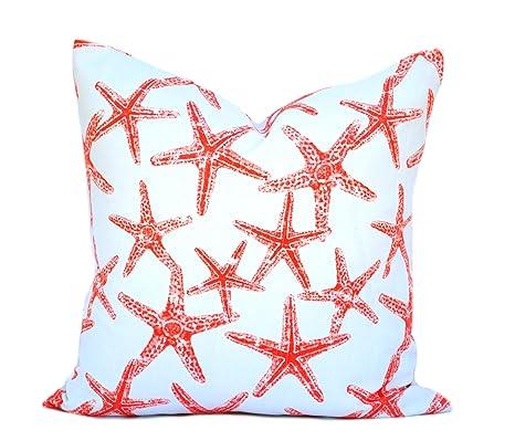 Una Estrella de mar Coral náuticas funda de almohada, 20 x ...