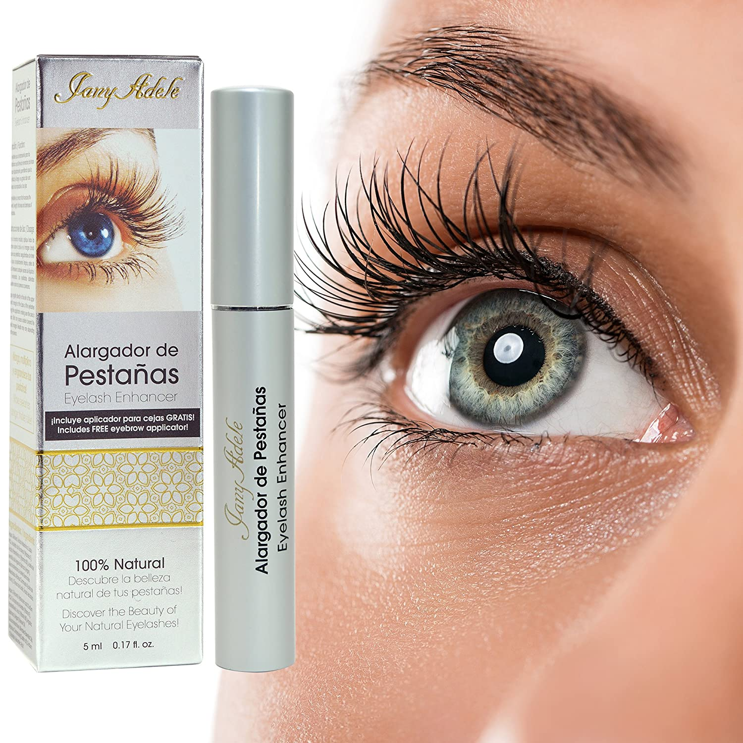 Amazon.com: JanyAdele 3D Eyelash Growth Enhancer with FREE Eyebrow Brush Applicator! - MORE Serum Oil - 100% Natural Vitamins - No Eye Irritation - Say ...