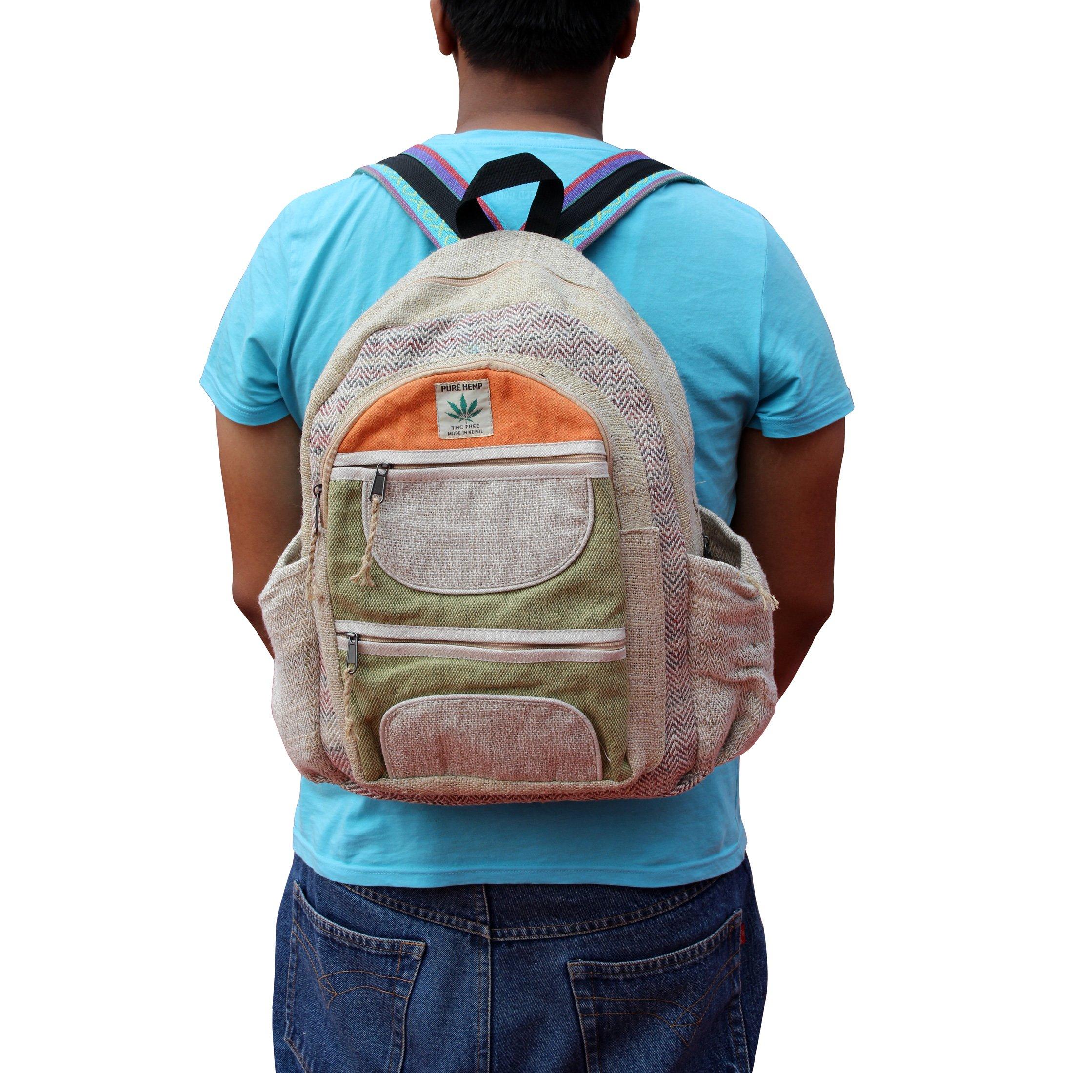 Maha Bodhi All Natural Handmade Multi Pocket Laptop Backpack - Himalayan Hemp by Maha Bodhi (Image #4)