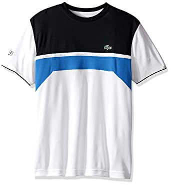 Blue And White Lacoste Shirt