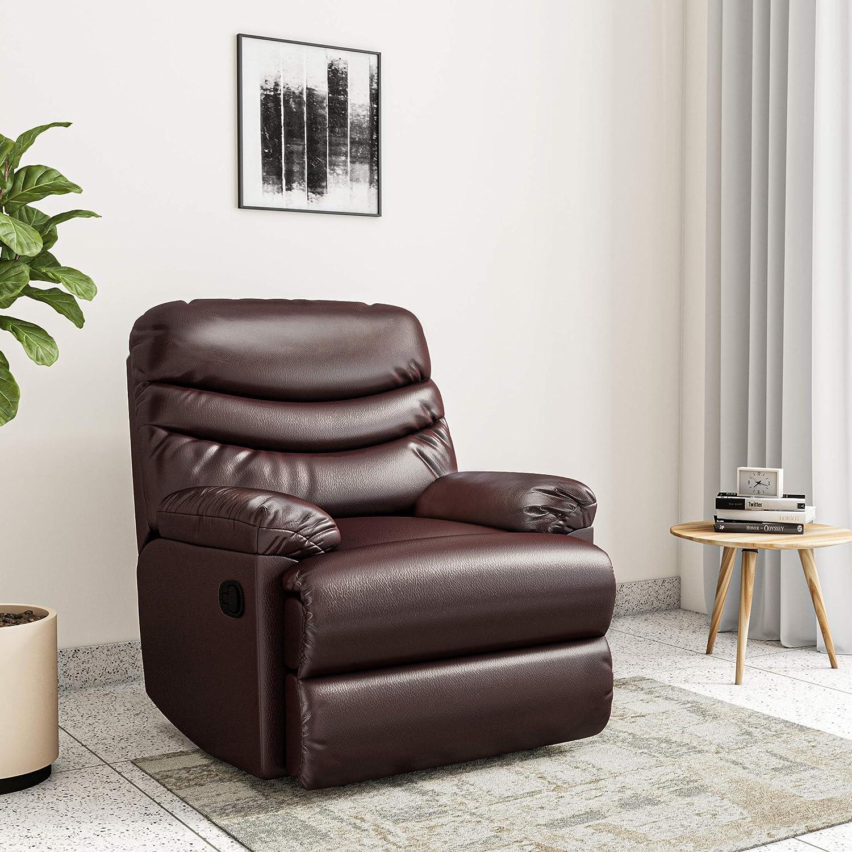 7.Amazon Brand - Solimo Serpens Single Seater Leatherette Recliner Sofa