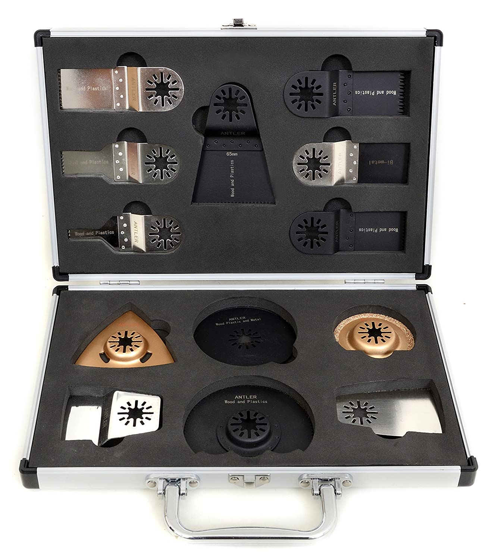 Antler 13 Blades Case Set for Fein Multimaster Multi talent Einhell Milwaukee Bosch Multitool Antler Blades by Saxton