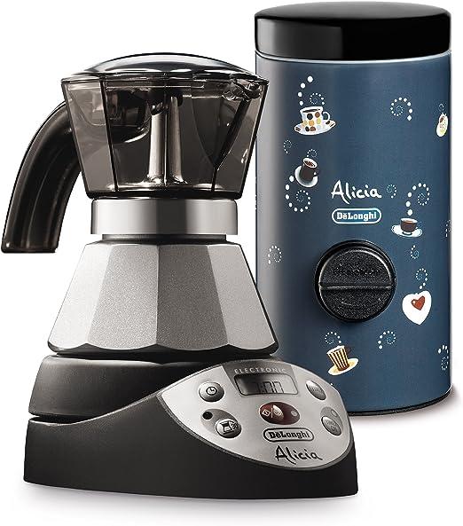 DeLonghi EMKE21 + DCM1 - Cafetera (Cafetera moka eléctrica, De café molido, 400 W, Negro, Acero inoxidable): Amazon.es: Hogar