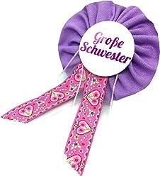 AnneSvea Orden - Große Schwester flieder lila rosa Babyshower Babyparty Geschenk Schwanger werdende Mutter Mom Bald Mama