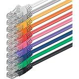 1aTTack CAT6 UTP Netzwerk-Patch-Kabel 1m mit 2x RJ45 Stecker Set (10 Stück, 10 Farben)