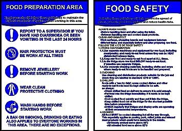 Gesundheit Sicherheit 2 A4 laminiert gewerblichen Küche Schilder ...