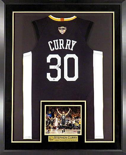 GS Warriors Stephen Curry Autographed Black quot OakTown quot  Jersey w  2018  Finals Patch ( b59cc8ae2