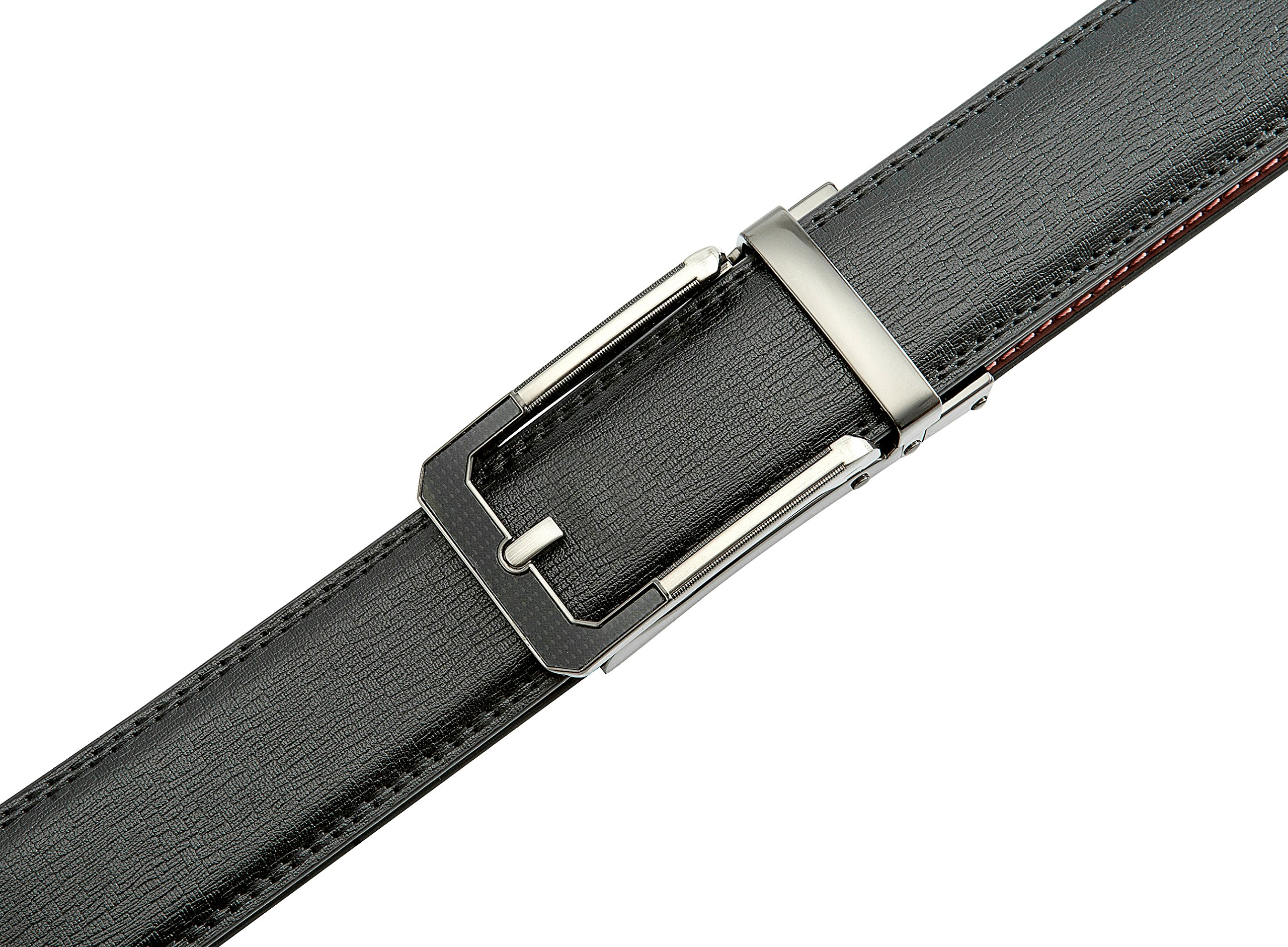 Men's Black Ratchet Belt - Black and Silver Open Style - by J. Dapper by J. Dapper (Image #5)