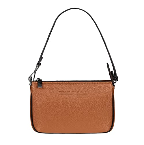 """FERDINAND SABAC Leder Handtasche Umhängetasche Schultertasche """"BARI"""" für Damen. Echte Ital..."""