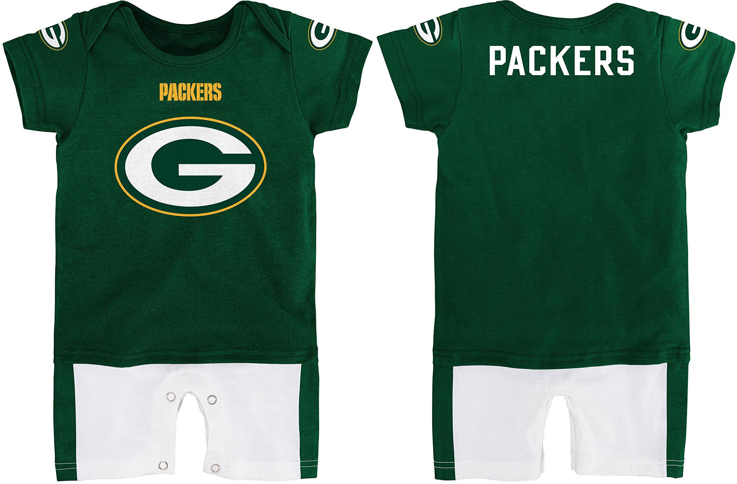 e22e84fc4 Outerstuff Green Bay Packers Baby Infant Fan Jersey Romper 0-3 Months  91HqDCguXOL