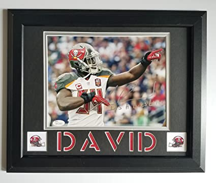 Image Unavailable. Image not available for. Color  LaVonte David Signed  Autographed 8x10 Tampa Bay Buccaneers Framed 11x14 JSA 10ad8f698