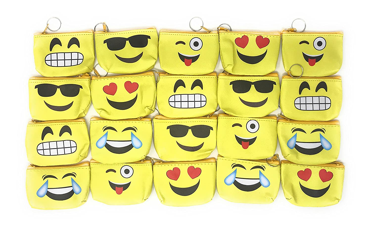 Amazon.com: 20 Bulk divertido Emoji cartera/Tesoro Bolsa ...