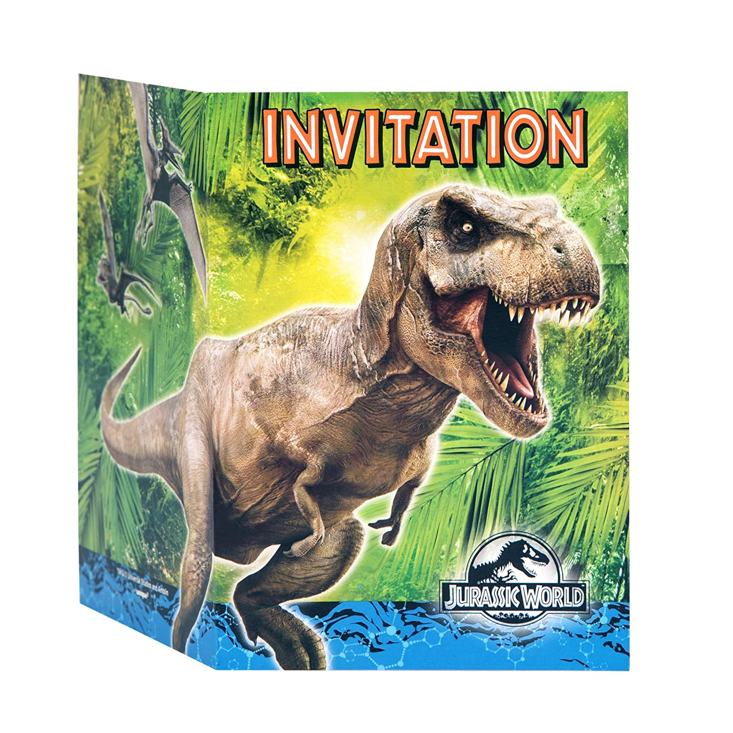 Party Invitaciones únicos Jurassic World Party (paquete de 8): Amazon.es: Juguetes y juegos