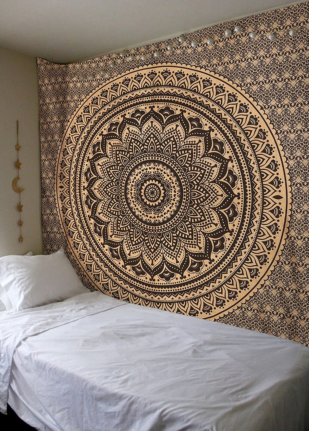 Amazoncom Exclusive Black Gold tapestry By Madhu