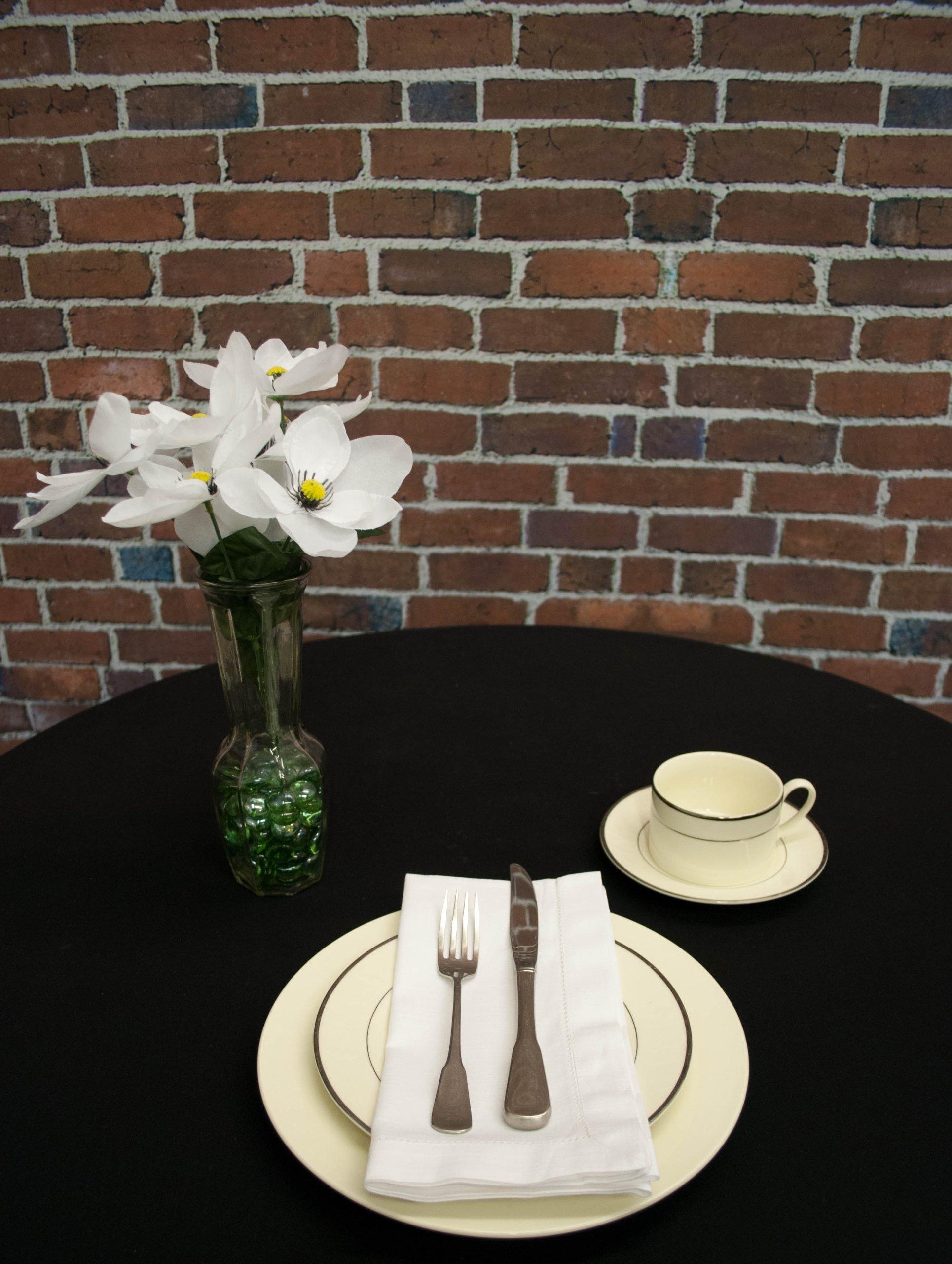 Hemstitch Dinner Napkins White 1 Dozen by Something Different Linen by Something Different Linen (Image #2)