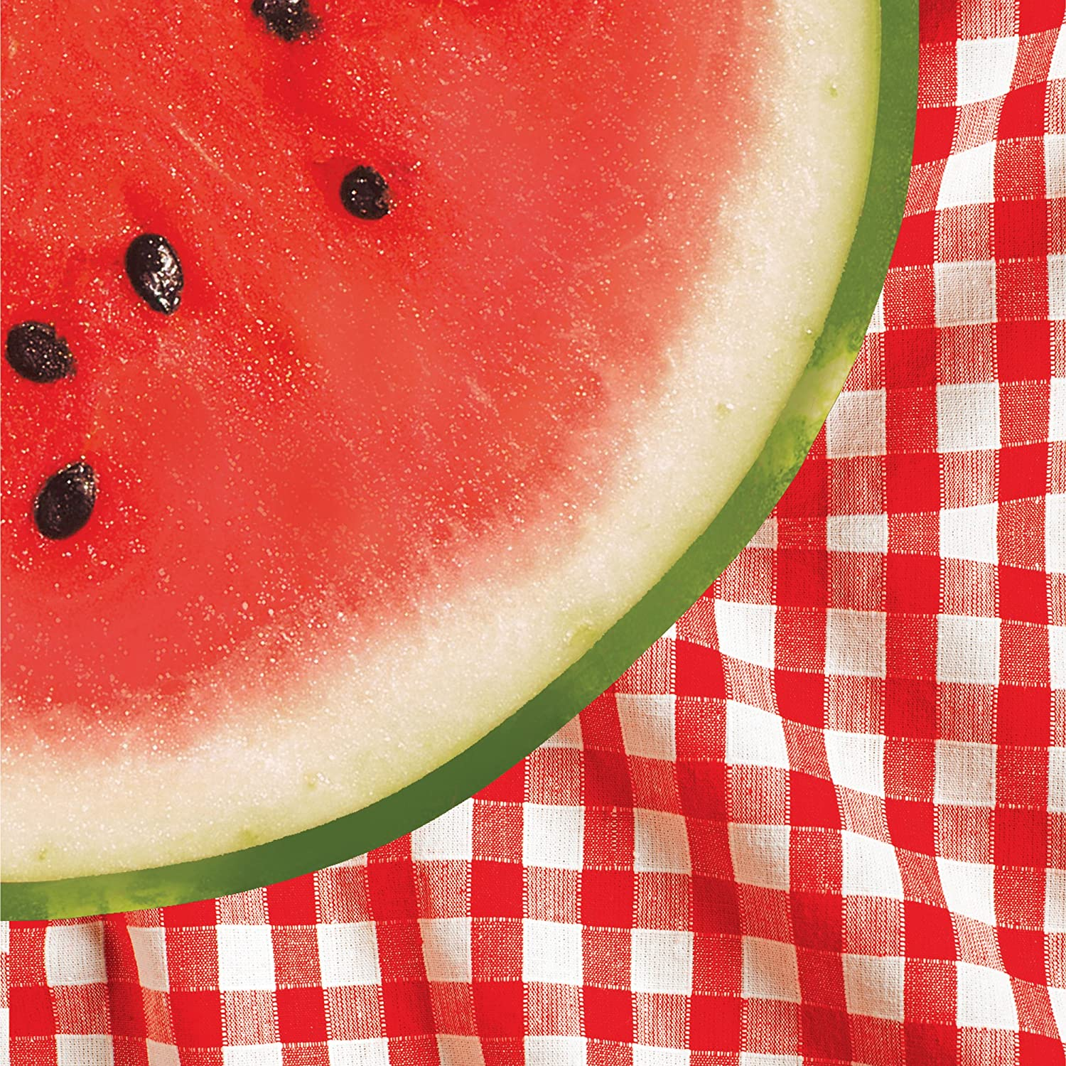 Creative Converting 18 Count Lunch Napkins, Watermelon Check