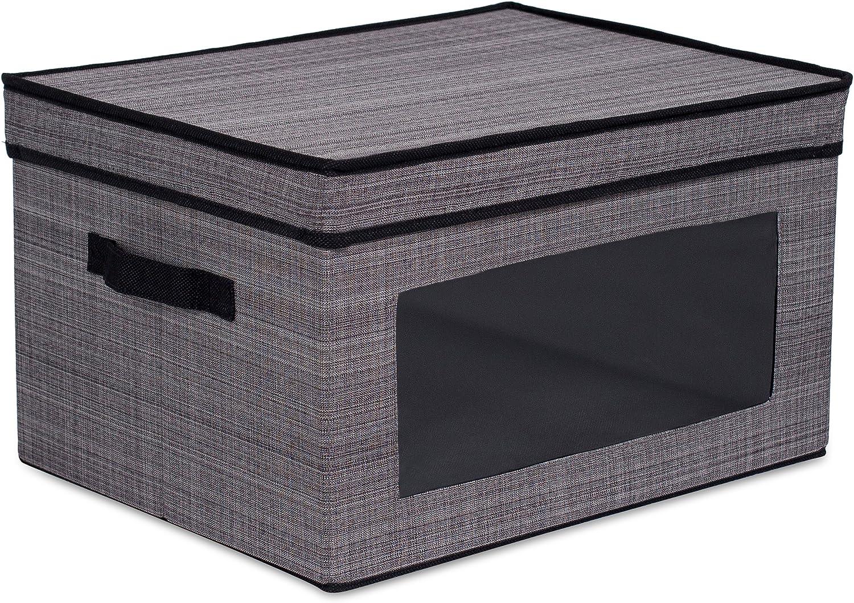 Crosshatch Gray Whitmor 6283-7045 Stackable Window Box